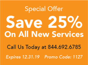 Save 25% on all new services, promo code 1127